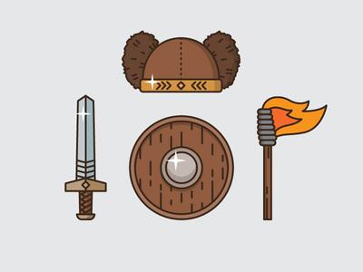 Items of Latvian mythical hero Bearslayer (Lāčplēsis)