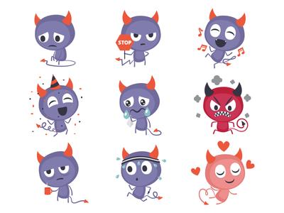 Devil stickers