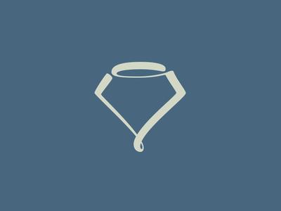 Single stroke diamond logo
