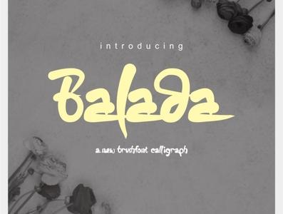 Balada brushfont