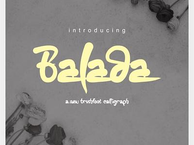 Balada brushfont typeface vector typography design whimsical whimsicalfont font design fonts calligraphy brushfont letters minimal type lettering font