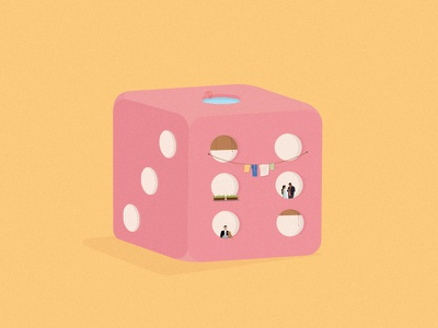 Flats available. home pastel minimal editorial digital design flat dice architecture illustration vector