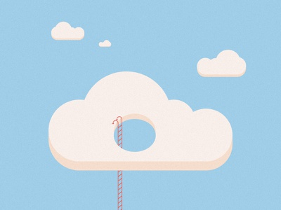 You can climb a ladder up to the sun... sky steps pastel minimal editorial digital design flat cloud illustration vector
