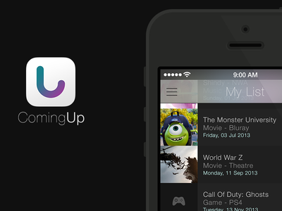 ComingUp iOS 7 redesign ios7 app iphone ui tableview