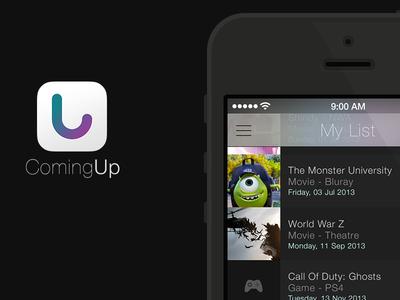 ComingUp iOS 7 redesign