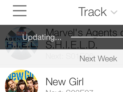 ComingUp Updating UI
