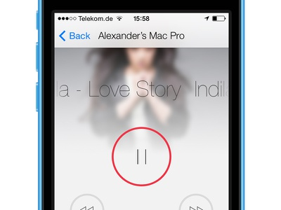 Spotmote 1.3 Update spotify audio music play pause spotmote ui ios iphone