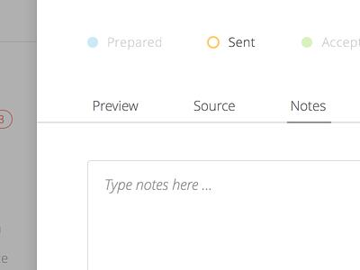 Web App UI Preview web textarea modal status
