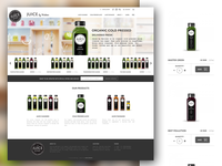 Cold Pressed Juice - E-commerce website
