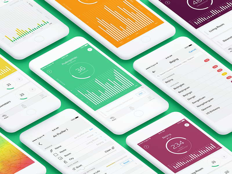 Kaiterra Air Quality Index App Dribbble Ui Howldb