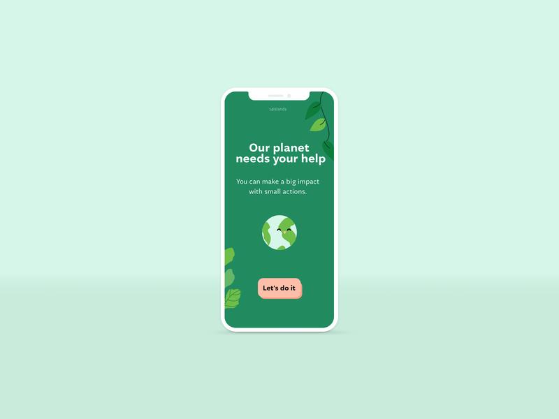 Sustainability app prototype. uxui design ux climatechange application hack digital sustainability wip