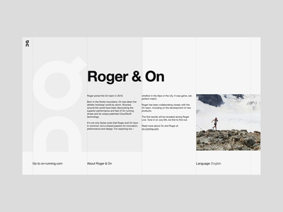 The Roger - About loader web motion website interactive animation developers development