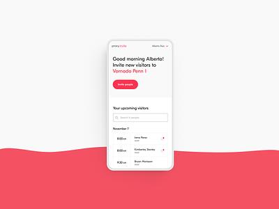 Proxy Invite - Visitor desktop mobile user experience ui access planning timeline uidesign uxui ux platform invite visitor