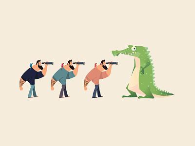 Floripa - Adventurer Game exploration adventure game character design parot crocodile explorer brazil characters illustration
