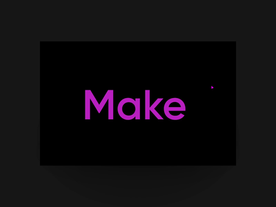 Myriad introduction loop video motion design website ux interactive ui animation