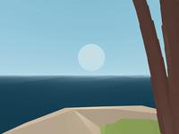 VR tropical island tutorial