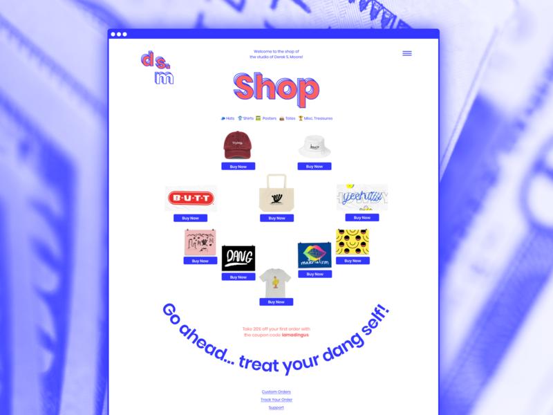 Studio Shop Updates webdesign ecommerce smiley grid layout smile