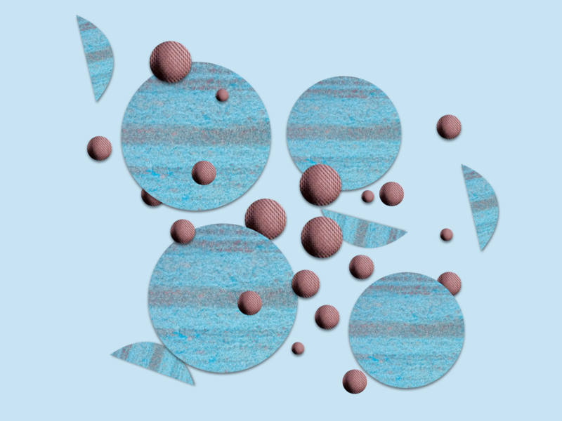shape collections half circle circles grain blue shapes