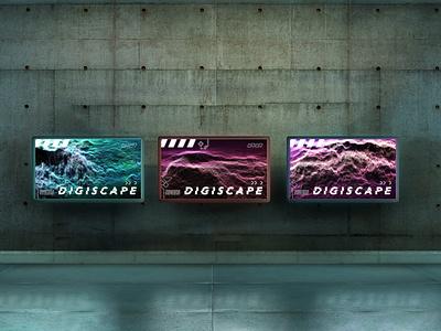 Digiscape Posters colorful techno cyberpunk digital