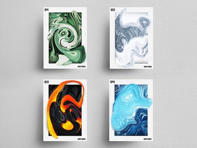 Warped Nature liquify photoshop conceptual posters poster designer poster design art direction concept design