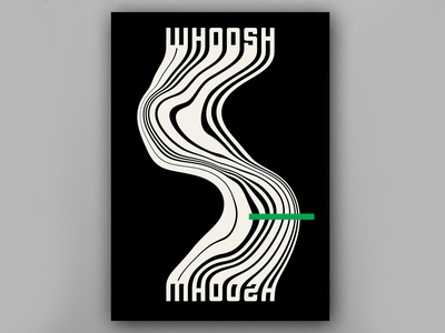 Whoosh Poster design art minimalist minimal illustrator illustration photoshop liquify art direction