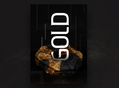 Gold Mineral Poster