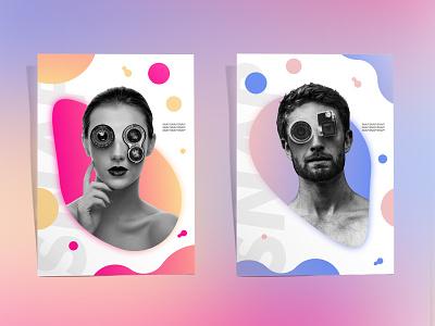 SNAP SNAP SNAP colorful gradients organic blob snap social media camera lens trendy gradient poster design blops
