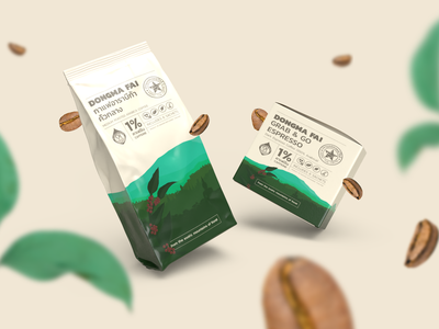 DONGMAFAI 1% Caffeine Coffee vector illustration photoshop art direction conceptual colorful rare exotic jungle forest unique organic design packaging coffee