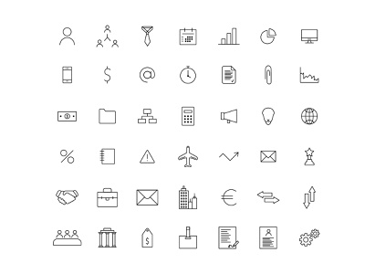 Business and Finance Icons pack icons pack stroke line illustrator set finance business icons vector