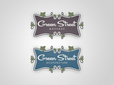 Green Street Acupuncture - Sibling Logo logo logos sibling branding identity