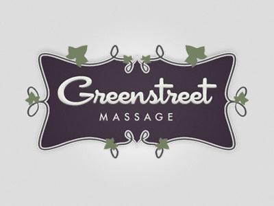 Greenstreet Massage green street massage alex profera logo identity traditional ornate floral script