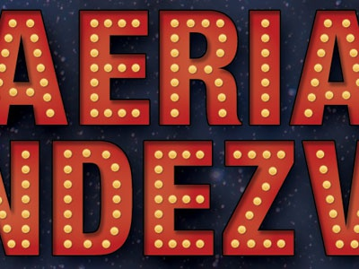 Marquee Letters for a Circus Performance marquee letters type typography circus cirque handbill poster lights show night stars