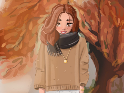 Warm Autumn cartoon character character design character cartoon cartoon portraits