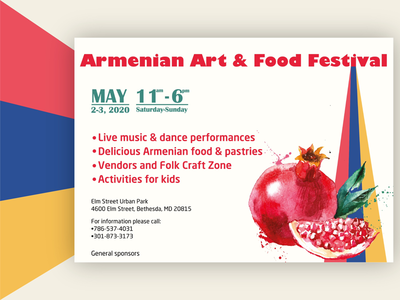 Flyer design for Armenian Art and Food Festival!