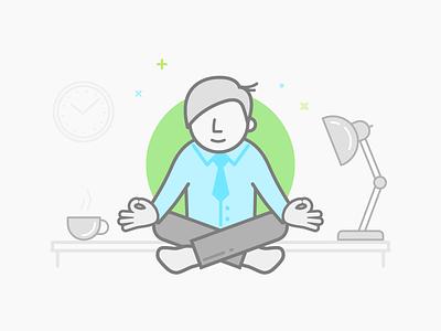 Zen freelancers help stress-free relax freelancers manager office desk help job work yoga zen