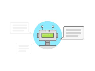 Chatbot Development job robot skill illustration chatbot development bot chat