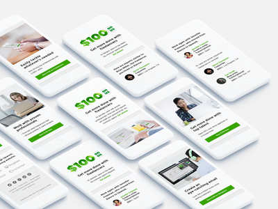 Emails for $100 on us campaign uxd uid mobile first upwork email campaign $100 campaign components mobile acquisition email