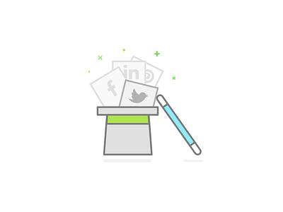 Social Media Marketing illustration upwork marketing social media skill icon