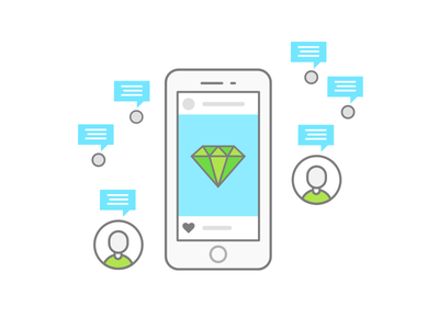 Influencer Marketing icon social communication viral influencer marketing influencer marketing illustration upwork skill