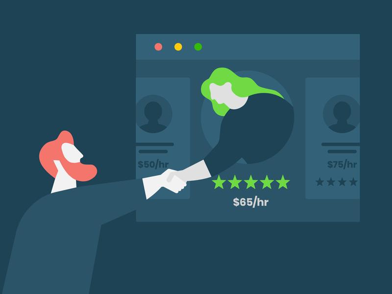 Remote talent hiring interview job handshake client freelancer contractor staffing talent solution hiring talent upwork