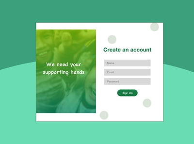 Sign up page design #01
