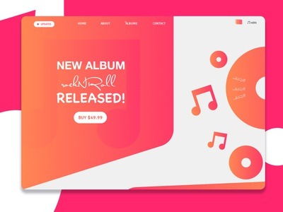 Music Album Release Landing Page Design
