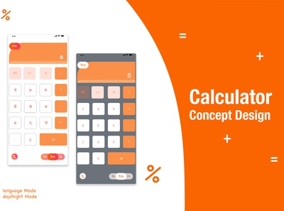 Calculator Design Concept with Mode