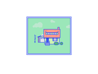 A Home - Summer fixed width summer architecture vector design icon illustration