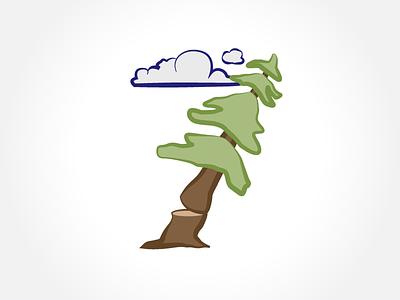 Tree #7 tree cloud illustration logging
