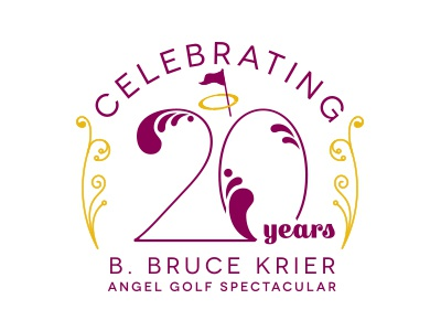 Golf Spectacular Anniversary Logo vector golf angel filigree anniversary logo