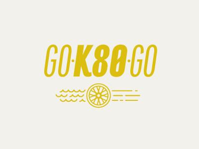 Go K80 Go! run bike swim triathlon typography icon