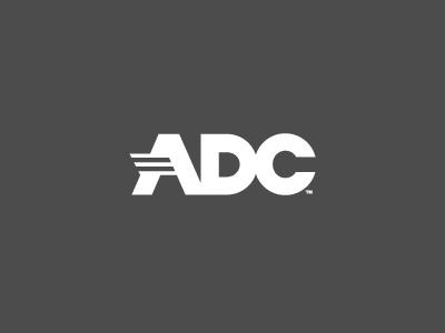 ADC Logo wordmark letterform logo