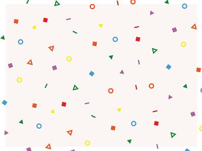 Confetti celebrate playful pattern design funfetti flashback retro confetti pattern