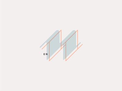 N letter lettering typography vector logo illustration